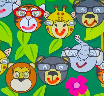 Jungle Glasses Charts, glasses compliance