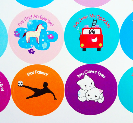 Optician and Eye Stickers for children