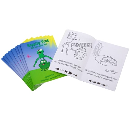 Hoppity Frog Amblyopia Book, amblyopia games, amblyopia book
