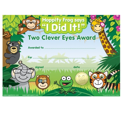 Jungle Certificates, optician rewards, eye exam reward