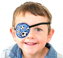 junior eye patch on face-min