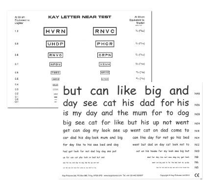 Kay Letter Test Near Test Card