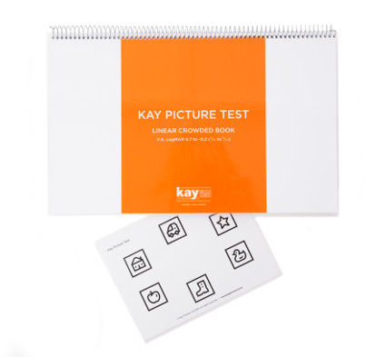 Kay Picture Test Linear Crowded Book, paediatric vision test