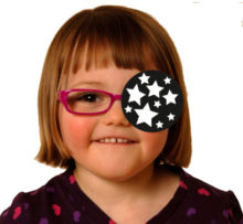 Girl with star occluding patch