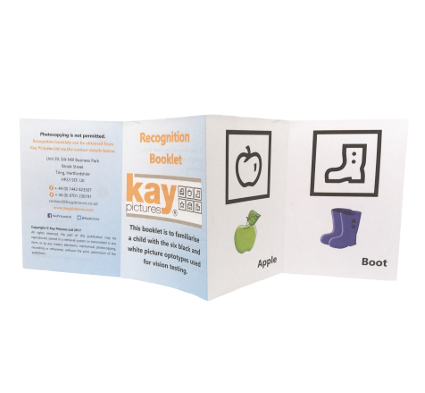 Kay Picture Test Recognition Booklet, paediatric vision testing equipment