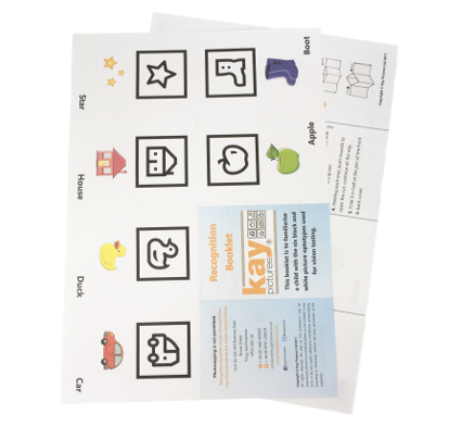 Kay Picture Test Recognition Booklet, paediatric vision screening equipment