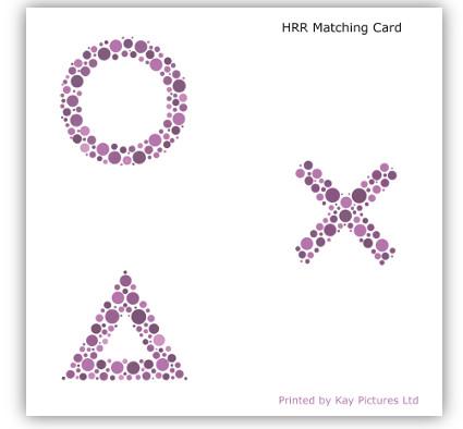 HRR Colour Vision Test Matching Card