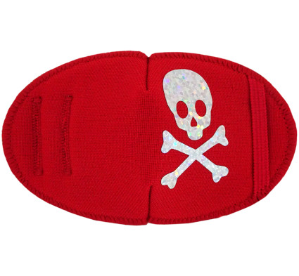 Sparkling Pirate Fun Patch Red