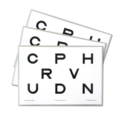 Kay Letter Test for visual acuity screening