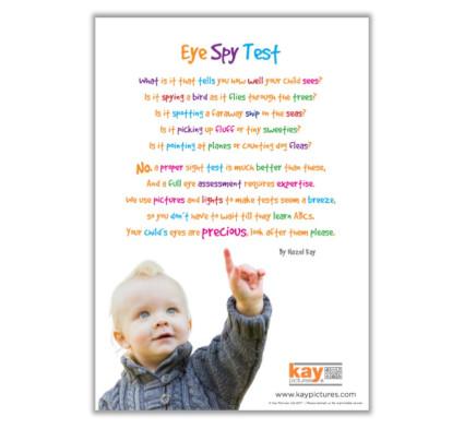 Eye Spy Test Poster