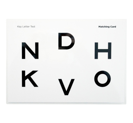 Kay Letter Test Matching Card 6 Letters