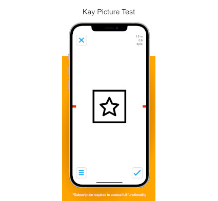 iSight Pro Kay Pictures Vision Test App