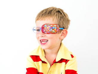 Orthoptic fabric eye patches size guide